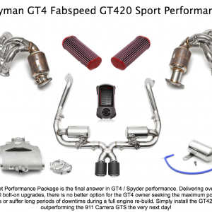 Porsche Cayman GT4 Fabspeed GT420 Street Performance Package