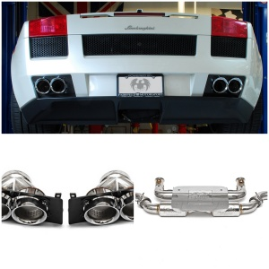 Fabspeed Gallardo (04-08) X-Pipe Sports Exhaust and Quad Tips