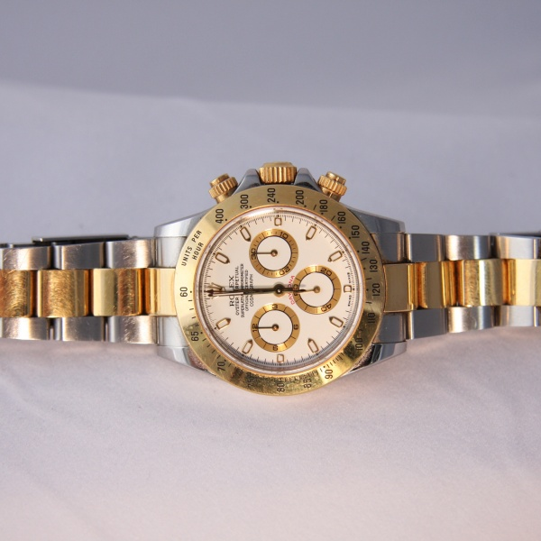 Gents Rolex Daytona 18ct Gold/ Steel Watch